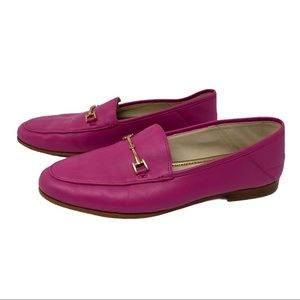 San Edelman Loraine Bit Loafer Leather Pink Sz 8.5
